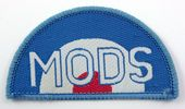 Mods - 'Roundel' Arched Woven Patch